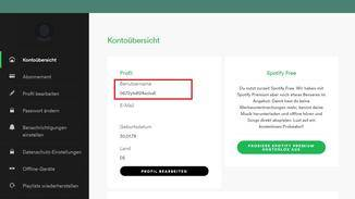 Spotify generiert Benutzernamen automatisch. Darauf können Nutzer keinen Einfluss nehmen.