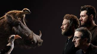 Timon wird von Billy Eichner synchronisiert, Seth Rogen spricht Pumbaa und John Oliver leiht Zazu seine Stimme.
