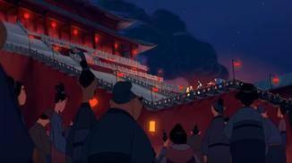 ... fühlt man sich direkt an die riesige Treppe des Kaiserpalastes aus dem Animationsfilm erinnert.