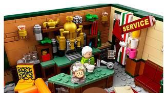 Closeup Gunther Lego Friends Central Perk Set