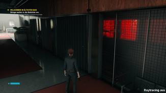 Auch in dieser Szene reflektiert das Glas die Umgebung nicht.