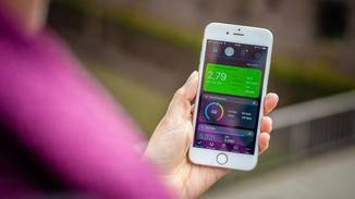 Die Garmin-App ist auf den ersten Blick überschaubar aufgebaut.