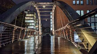 Pixel 4 Brücke mit Nachtmodus