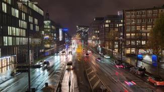 Galaxy Note 10 Straße mit Nachtmodus