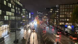 iPhone 11 Pro Max Straße mit Nachtmodus