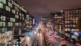 One Plus 7T Pro Straße Nachtmodus