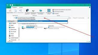 Öffne das Verzeichnis über den Dateiexplorer.