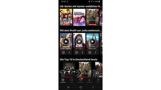 Netflix Weiterschauen-Liste Screenshot