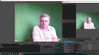 OBS Studio einstellen: Chroma-Key-Filter wählen.