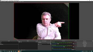 OBS Studio einstellen: Webcam-Bild beschneiden.