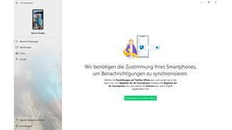 Für die Anzeige von Smartphone-Benachrichtigungen musst Du noch einen Schieberegler am Smartphone umlegen.
