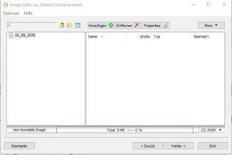 """... Dateifenster per Klick auf """"Hinzufügen"""" zu den Ordnern und Dateien zu navigieren, die ..."""