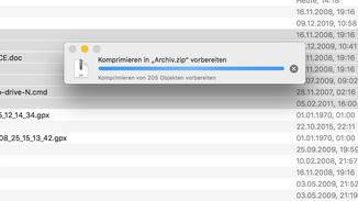 Zip-Datei erstellen am Mac: Komprimieren vorbereiten.