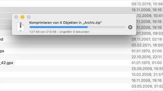 Zip-Datei erstellen am Mac: Komprimieren.