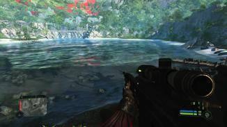 Hässlich: Rote Pixelblöcke in der Ferne. Schick: Ihre Raytracing-Spiegelung im Wasser.