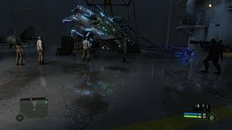 Das Alien-Schiff wird (glaube ich) auch via Raytracing auf dem Boden gespiegelt.