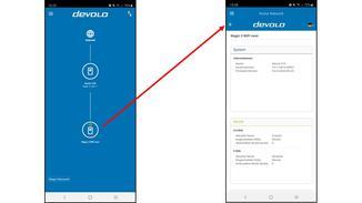 Tippe in der Devolo-App auf einen der WiFi-Adapter.