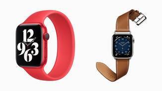 ... bei der Apple Watch Series 6 sind es sogar noch mehr Farben.