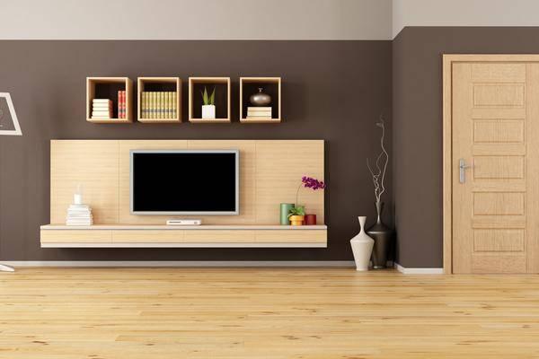 perfekt integriert so l sst sich der fernseher verstecken. Black Bedroom Furniture Sets. Home Design Ideas