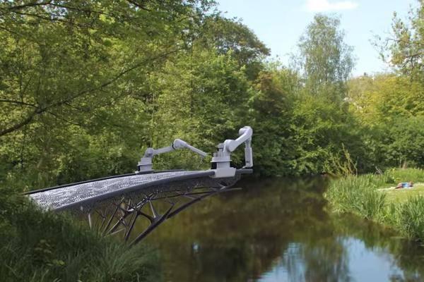Diese Brücke wird vollständig von 3D-Druckern gebaut