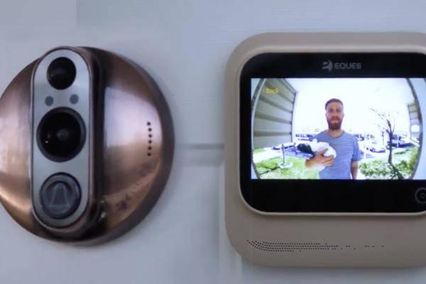 turn on innovation veiu smart home t rklingel mit video. Black Bedroom Furniture Sets. Home Design Ideas