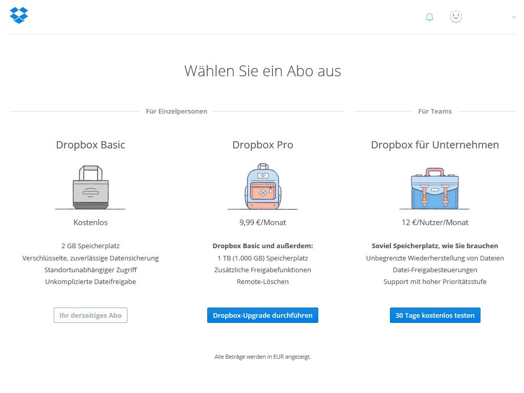 dropbox-speicher kostenlos erweitern & mehr dropbox-speicherplatz, Einladung