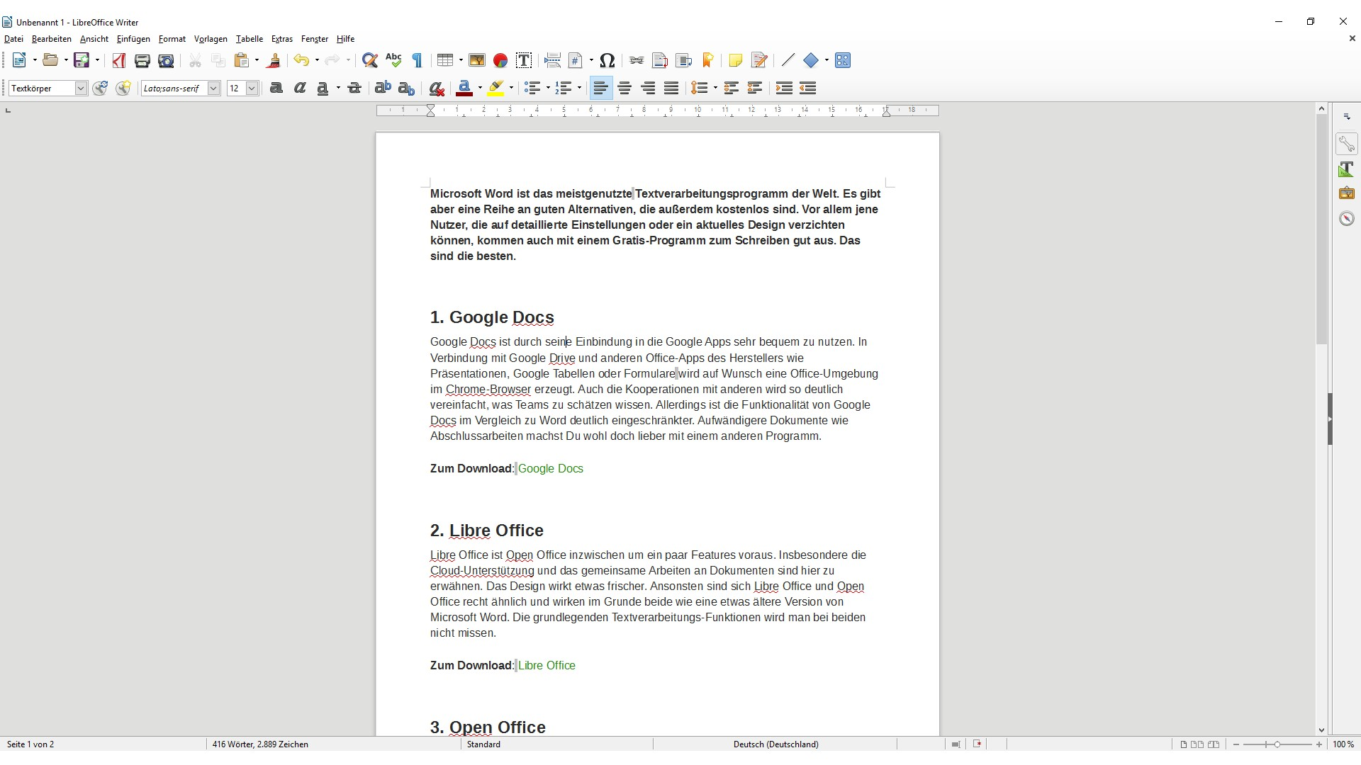 Office-Alternative: Die 5 besten Gratis-Alternativen zu Word