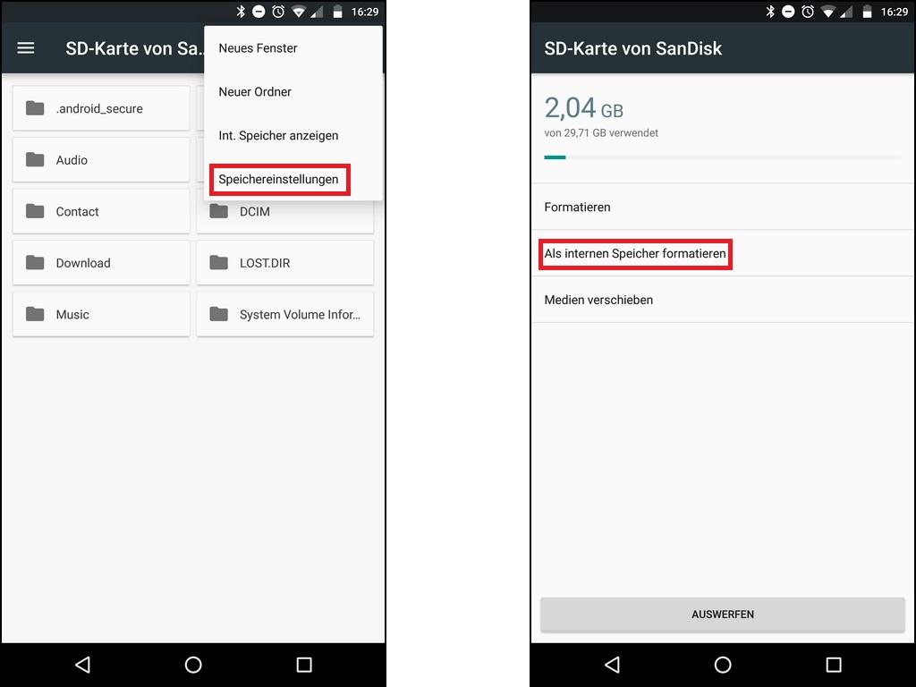 android sd karte formatieren Unter Android Daten auf die SD Karte verschieben: So geht's