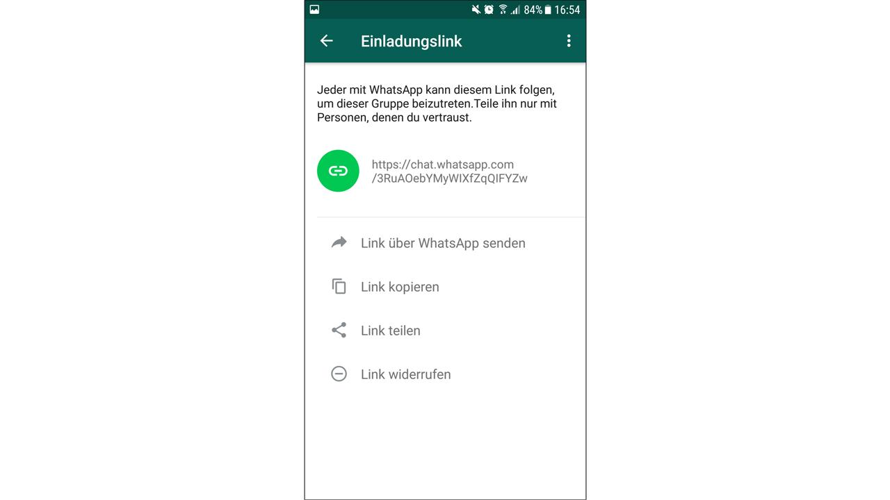 whatsapp-gruppen: faq zum suchen, einladen, beitreten, löschen etc., Einladung