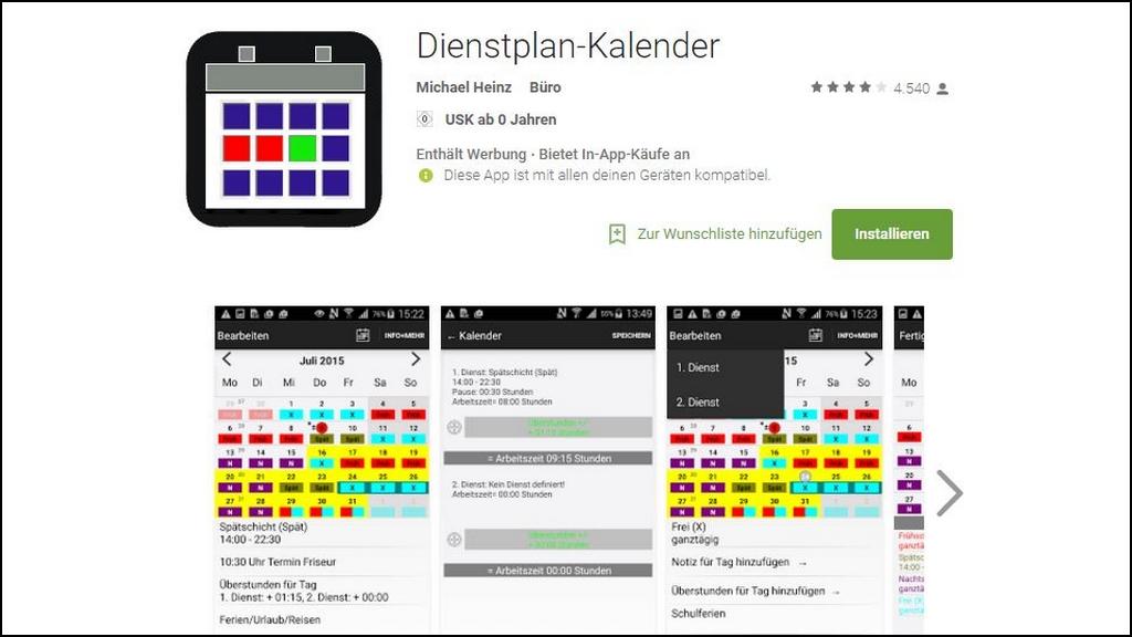 7 kostenlose Dienstplan-Apps für Android und iPhone