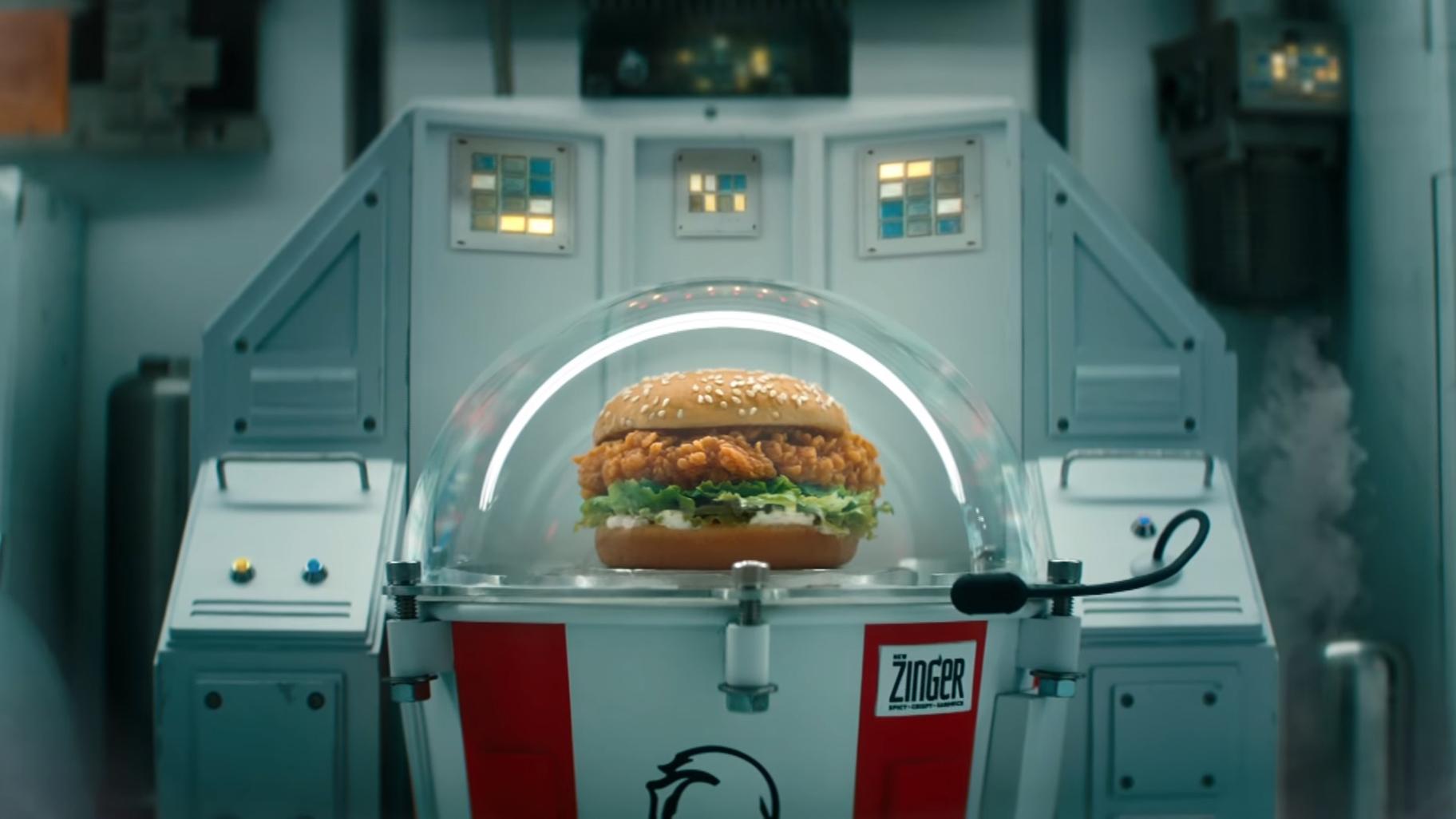 KFC schickt ein Hähnchen-Sandwich in den Weltraum