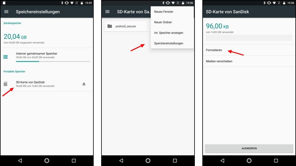android sd karte formatieren In Android SD Karte formatieren: Welches Dateisystem verwenden?