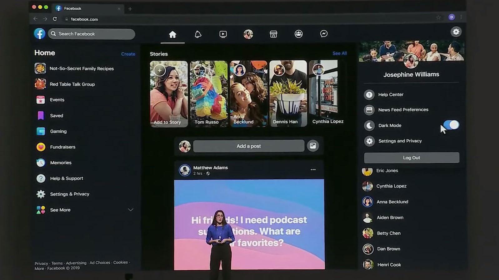 Licht aus! Facebook bringt Dark Mode zur Web-Ansicht