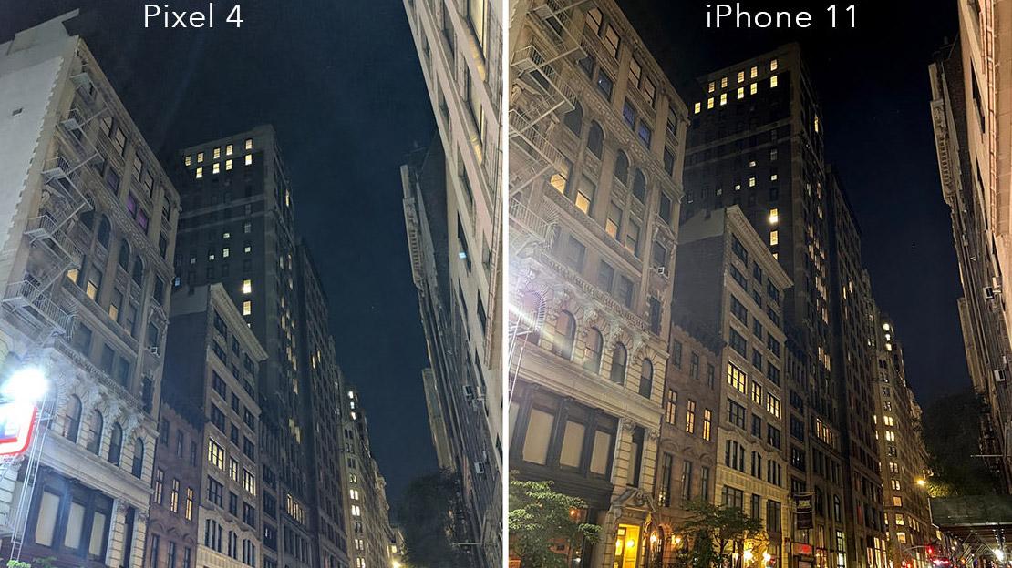 Kamera-Nachtmodus im Vergleich: iPhone 11 schlägt Google Pixel 4
