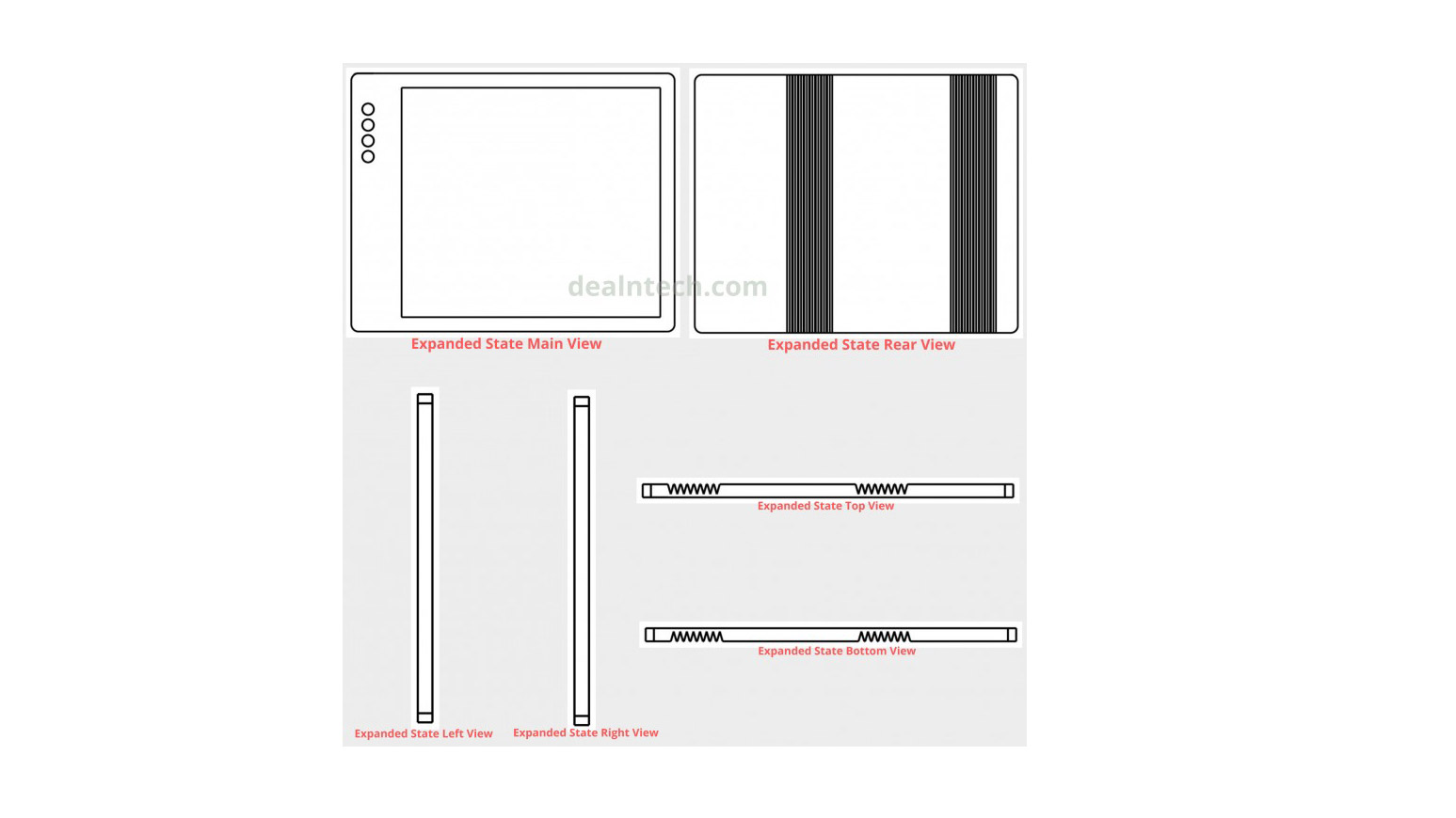 Faltbares Xiaomi-Smartphone: Neues Patent zeigt Falthandy mit Quad-Cam