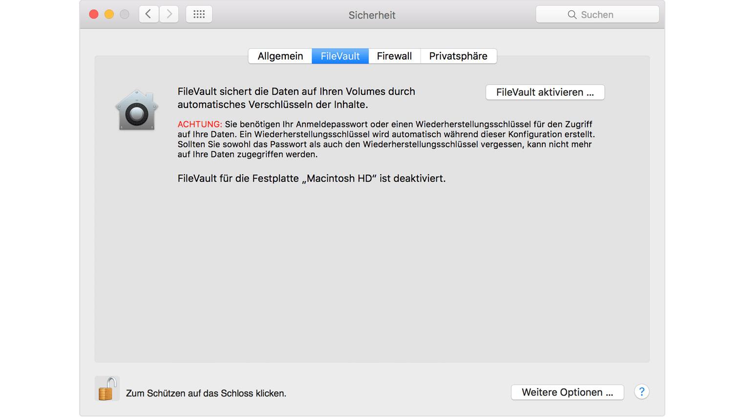 FileVault deaktivieren: So schaltest Du die Mac-Verschlüsselung aus